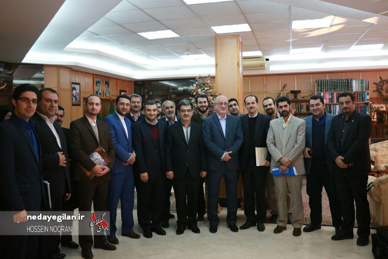 گزارش تصویری دیدار کاروان خبری فجر با استاندار گیلان