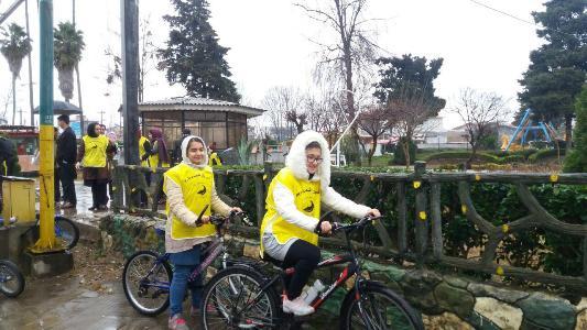 همایش دوچرخه سواری عمومی در رودسر