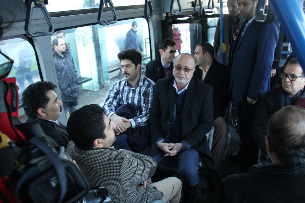 بازدید استاندار گیلان از وضعیت بخش حمل و نقل عمومی شهر رشت+تصاویر