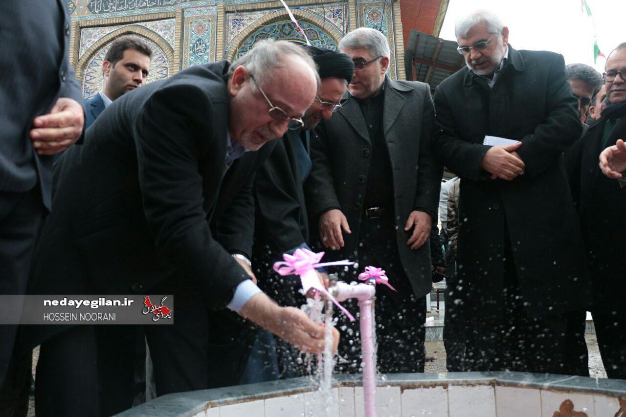 گزارش تصویری افتتاح طرح های دهه فجر در صومعه سرا و ماسال