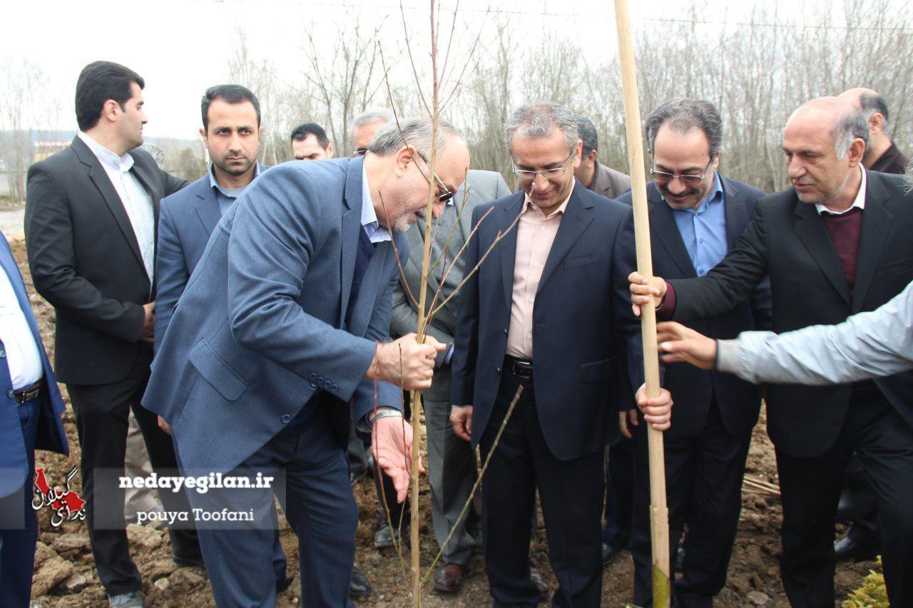گزارش تصویری مراسم روز درختکاری و احداث مجتمع کارگاهی علوم پزشکی گیلان