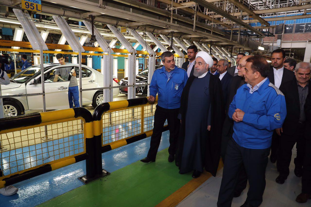 آغاز تولید پژو 2008 با حضور رئیس جمهور/روحانی:خودرو با کیفت در اختیار ایرانیان قرار می گیرد