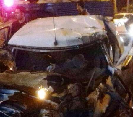 یک کشته در تصادف خودروی ال ۹۰ با تانکر آب در آستارا