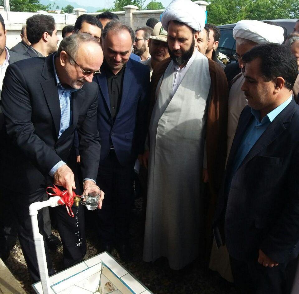 افتتاح طرح آبرسانی به ۶ روستای شهرستان آستارا با حضور استاندار گیلان