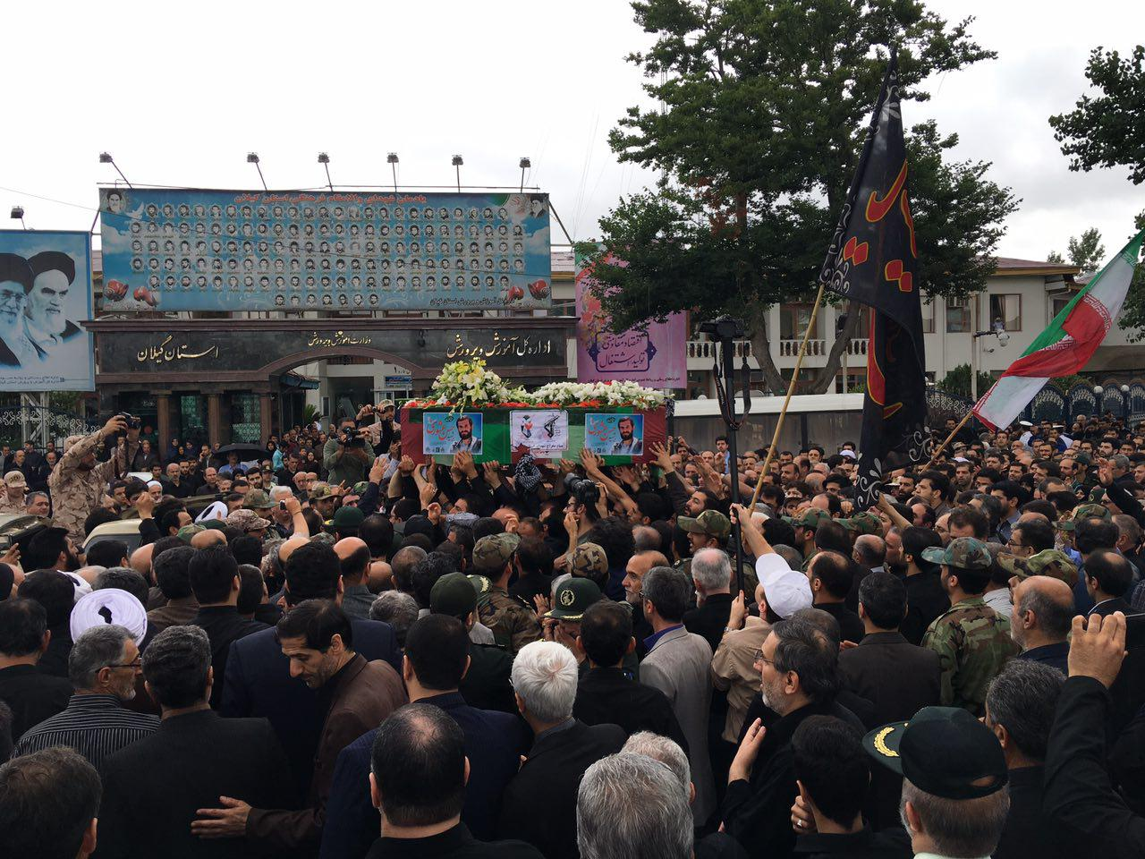 تشییع پیکر مطهر شهید مدافع امنیت حسن عشوری – رشت