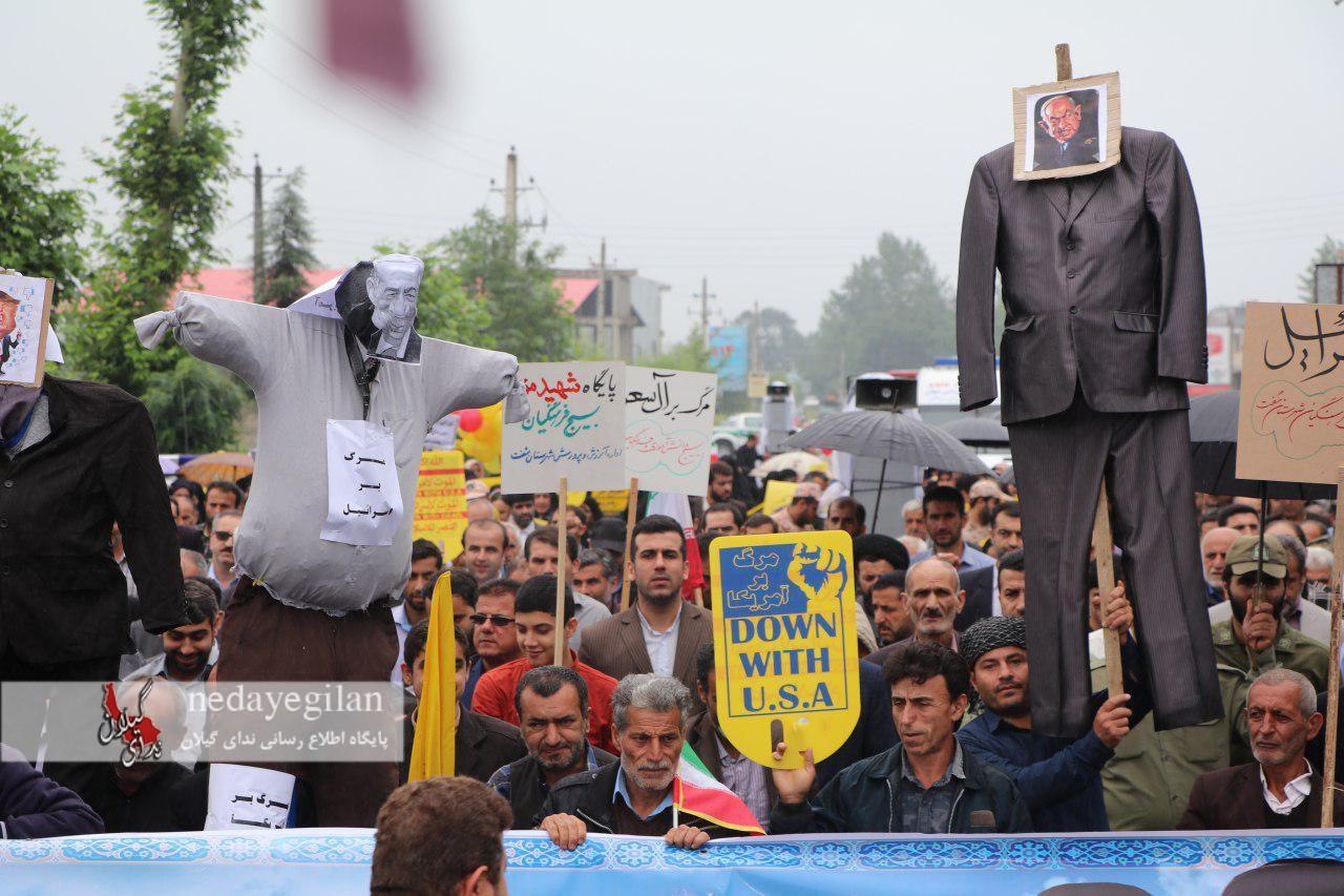 راهپیمایی روز قدس در شفت/تصاویر