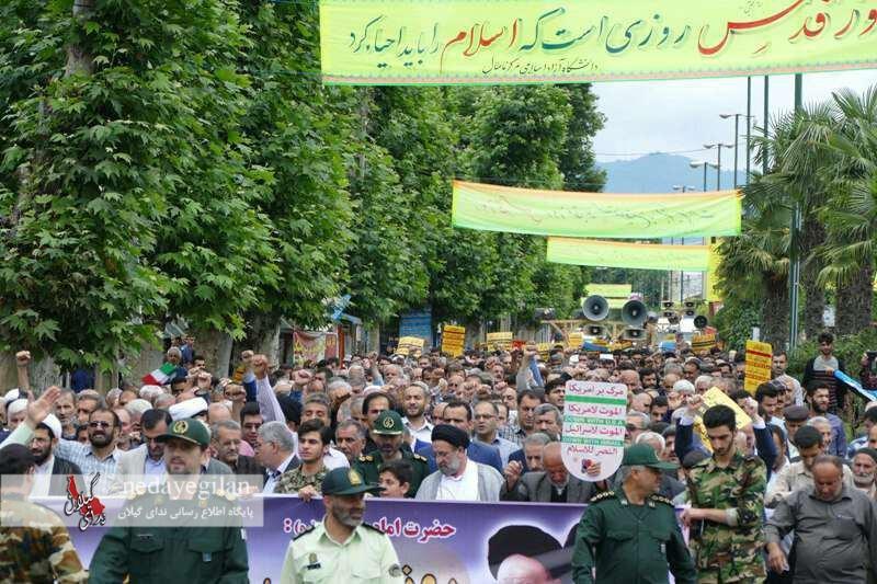 راهپیمایی روز جهانی قدس در شهرستان ماسال/تصاویر