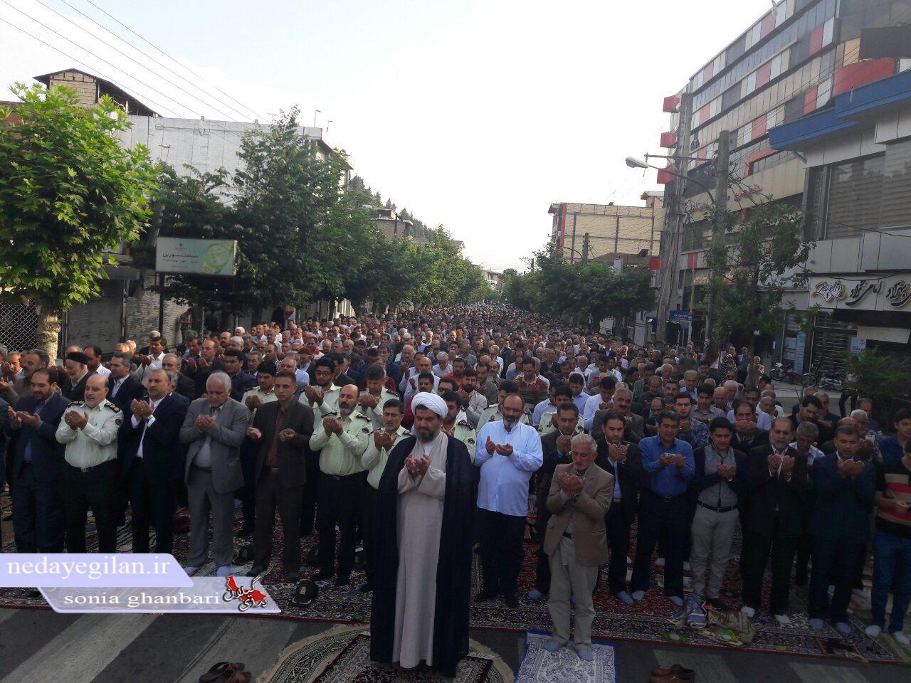 گزارش تصویری نماز عید فطر در شهرستان تالش