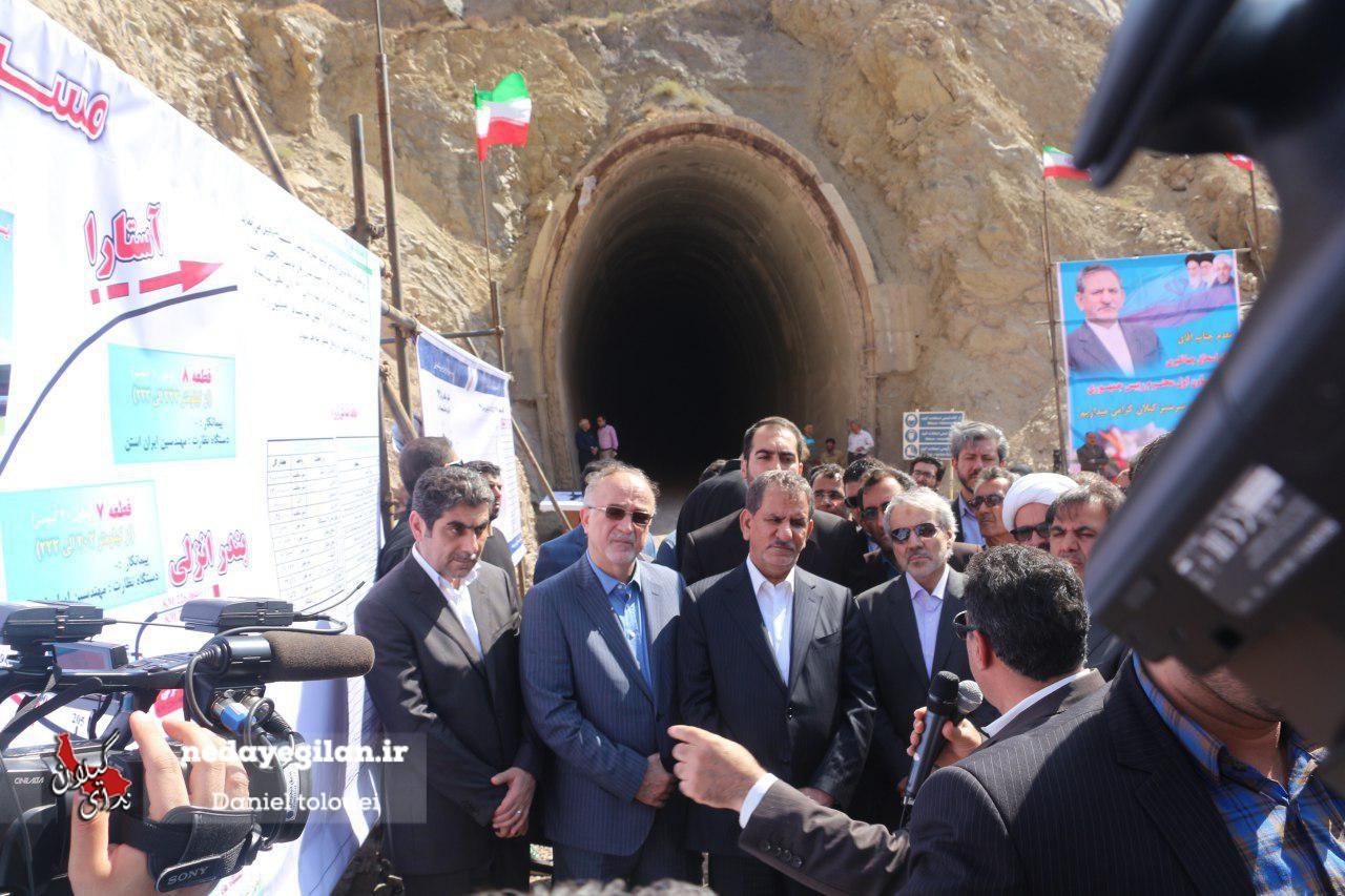 گزارش تصویری بازدید معاون اول رئیس جمهور از راه آهن قزوین-رشت