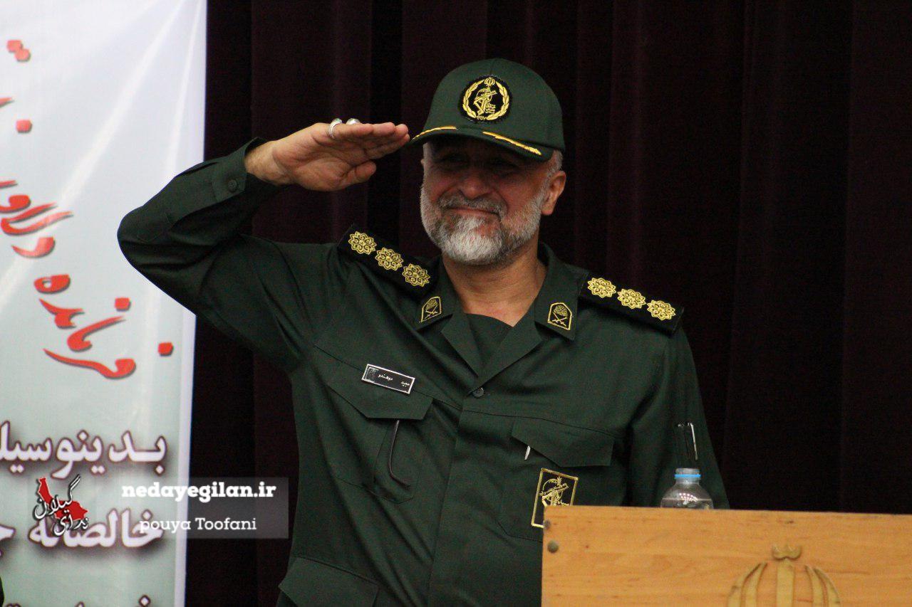 گزارش تصویری مراسم تودیع و معارفه فرمانده سپاه ناحیه رشت