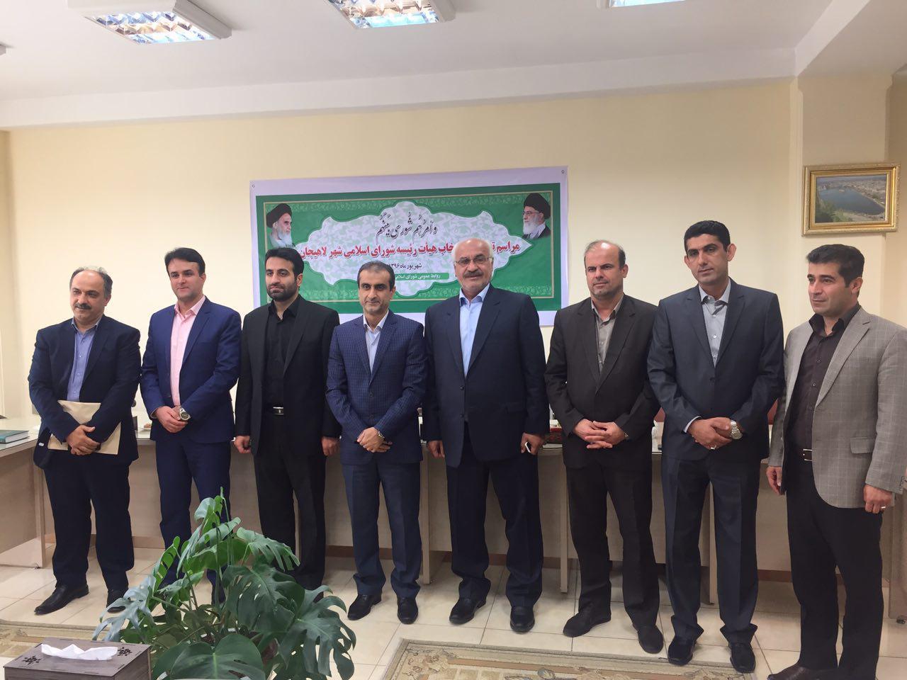 جنابی قدس رئیس شورای شهر لاهیجان شد /بهمن مرتضی پور سرپرست شهرداری