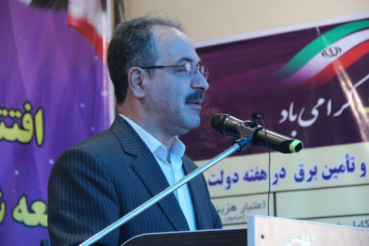 افتتاح  ۲۸۸ پروژه طی هفته دولت در شهرستان رشت