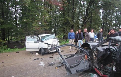 تصادف مرگبار سواری 405 با پراید در محور فلکده+عکس