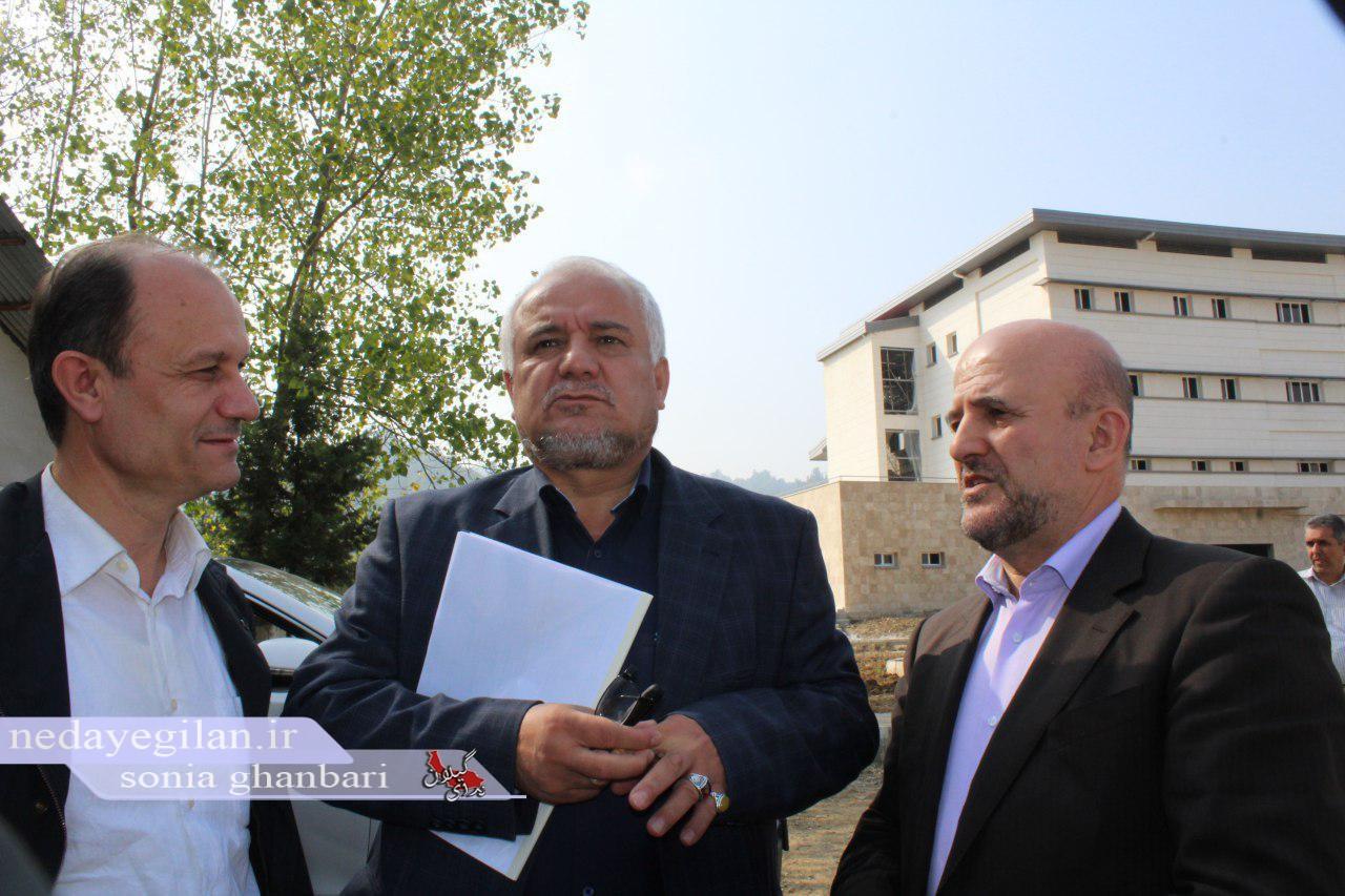 گزارش تصویری بازدید معاون وزیر راه از بیمارستان در دست احداث شهرستان تالش