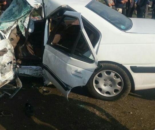 مرگ مادر جوان در تصادف رانندگی مسیر لیسار به حویق/مصدومیت شدید فرزندان راننده پژو پارس