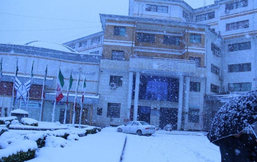 برف برخی از واحدهای دانشگاه آزاد گیلان را تعطیل کرد