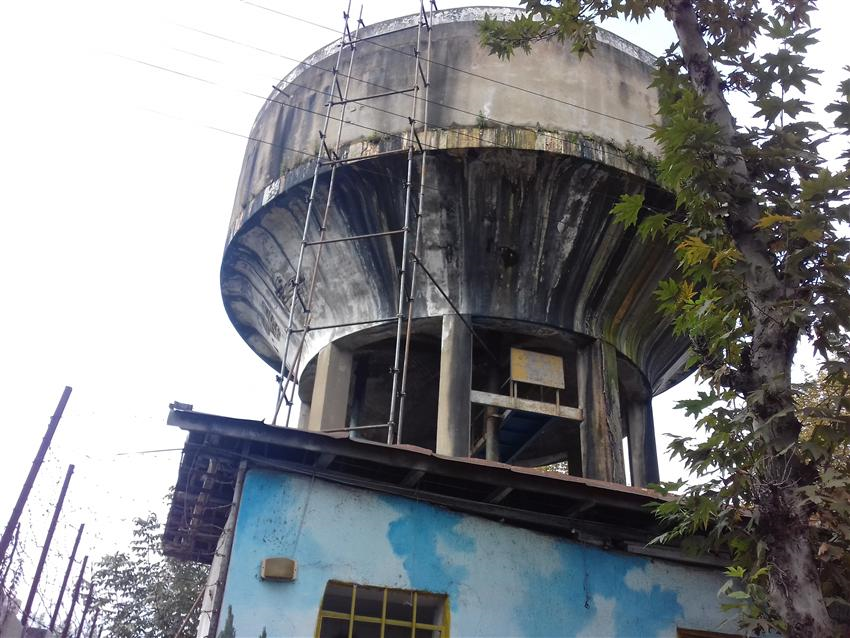 بازسازی قدیمی ترین مخزن هوایی آب در فومن