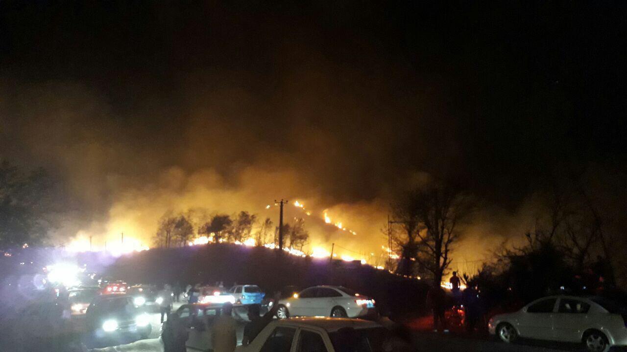آتش سوزی جنگل های گیلان صدمات جانی نداشت/مسافران نوروزی عامل احتمالی آتش سوزی هستند