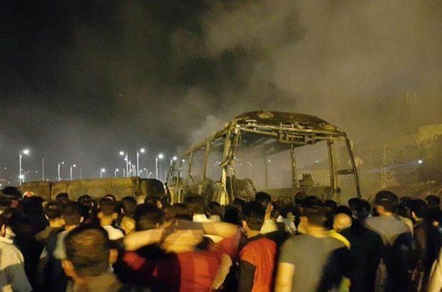سه روز عزای عمومی درپی تصادف مرگبار اتوبوس و تانکر سوخت در کردستان