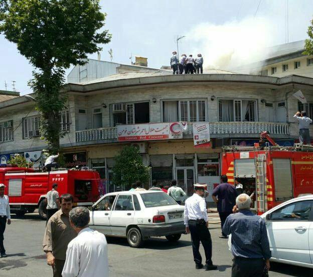 آتش سوزی در ساختمان هلال احمر شهرستان فومن