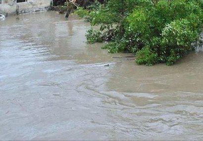 قطع راه ارتباطی 9 روستا در لنگرود/آبگرفتگی منازل حاشیه رودخانه در خالجیر شلمان
