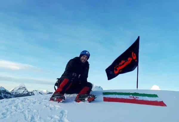 اهتزاز پرچم یاحسین بر فراز بلندترین قله قاره آفریقا