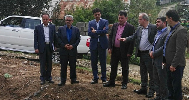 بازدید نماینده مردم سیاهکل و لاهیجان در مجلس از پروژه فاضلاب مسکن مهر سیاهکل