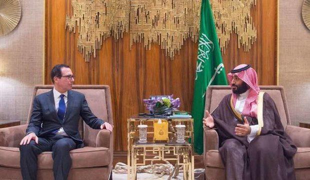 دیدار محمد بن سلمان با وزیر خزانهداری آمریکا