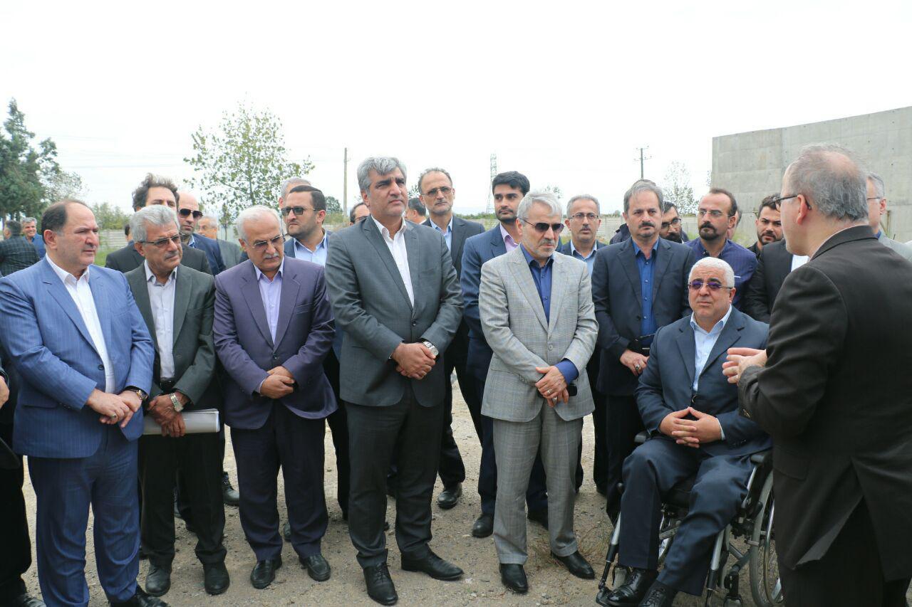 گزارش تصویری بازدید تصفیه خانه مسکن مهر و ریل گیلان با حضور دکتر محمد باقر نوبخت