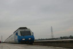 گزارش تصویری عبور آزمایشی قطار از قزوین به رشت با حضور محمدباقر نوبخت معاون رئیس جمهور