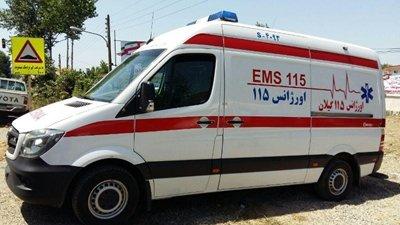 به دنیا آمدن دوقولوی عجول در آمبولانس اورژانس ۱۱۵ حویق