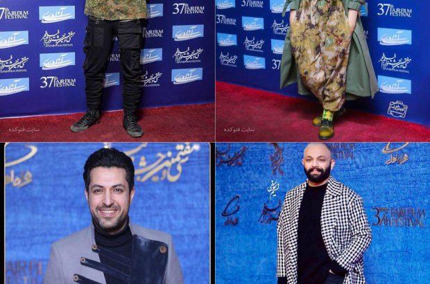 پوشش عجیب بازیگران در جشنواره فجر و واکنش کاربران فضای مجازی/خانم بازیگر با چکمه کشاورزی به فرش قرمز آمد!