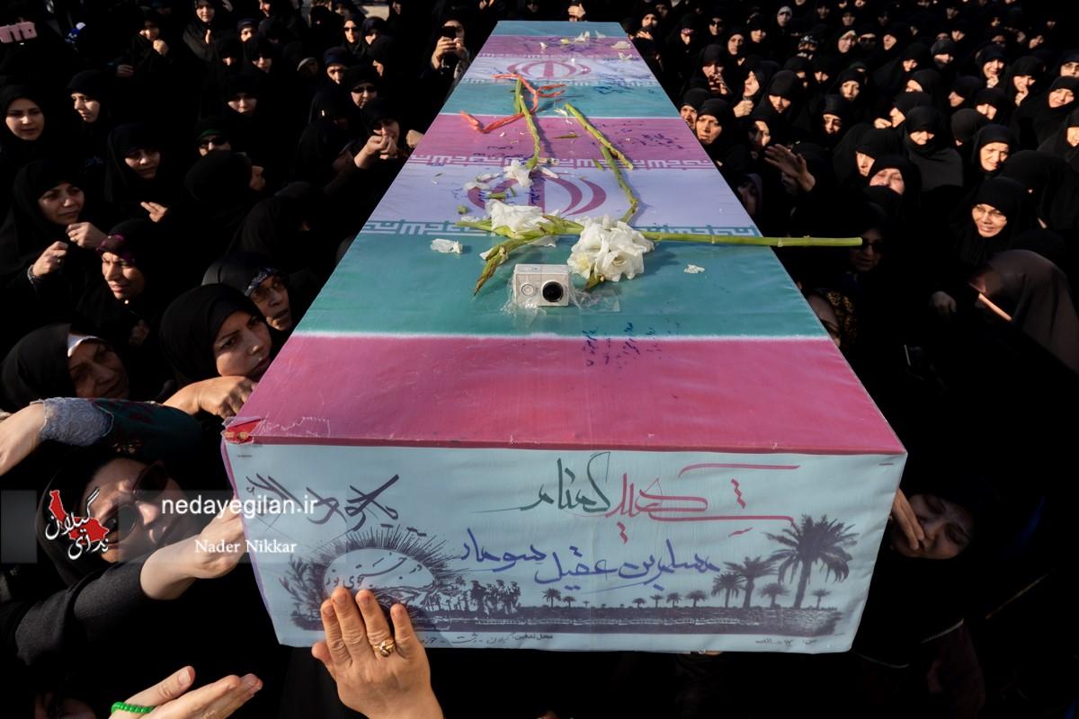 گزارش تصویری تشییع پیکر مطهر شهدای گمنام در رشت
