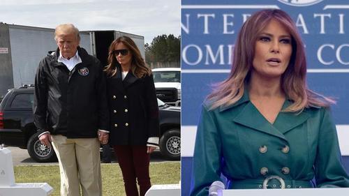 استفاده ترامپ از همسر تقلبی در سفرها/هشتگ ملینای تقلبی ترند شبکه های اجتماعی شد
