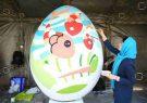 کارگاه رنگ آمیزی تخم مرغ های رنگی در پارک قدس رشت برپا شد