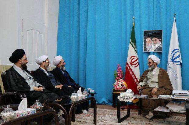 دیدار مدیرکل تبلیغات اسلامی گیلان با چند تن از علمای استان