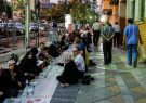 توزیع افطاری ساده در سطح شهر رشت