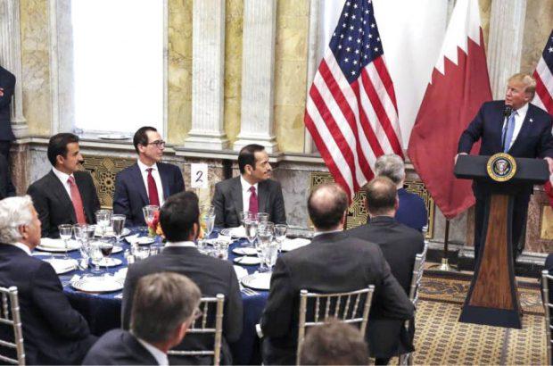 فروش میلیاردها دلار تسلیحات به قطر پس از دوشیدن عربستان/رقابت شیخ نشین ها برای دادن امتیاز بیشتر به ترامپ