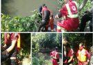 عملیات نجات در پی سقوط در رودخانه سیاه اسطلخ رشت