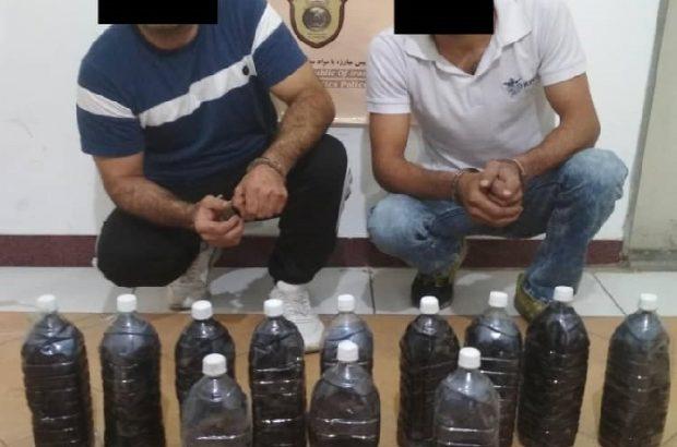 حوادث گیلان|کشف 30 کیلو تریاک در بطری های نوشابه در لاهیجان