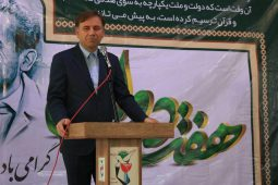 گزارش تصویری گلباران مزار شهدای رشت در اولین روز از هفته دولت