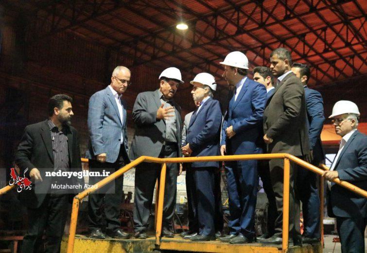گزارش تصویری بازدید نوبخت از شهرک صنعتی رشت و نشست هم اندیشی صنایع سلولزی