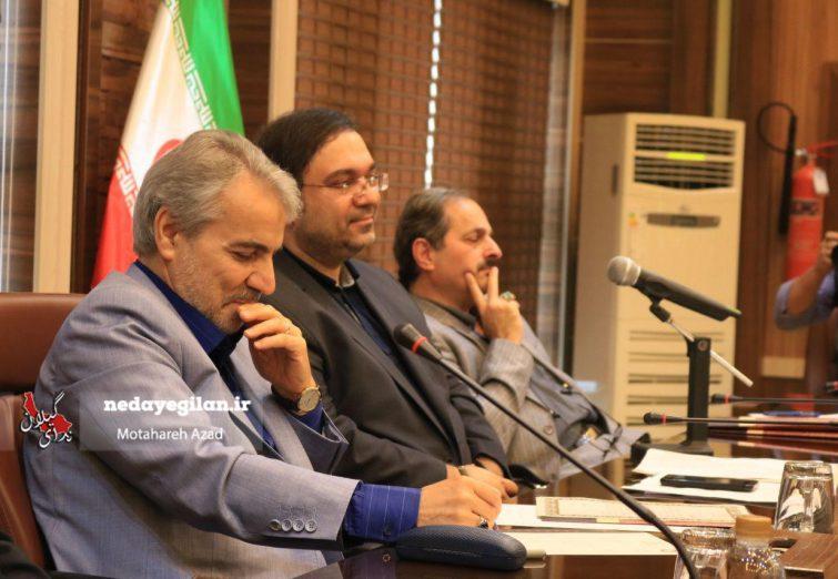 گزارش تصویری نشست خبری معاون رئیس جمهور با خبرنگاران گیلان