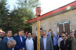 گزارش تصویری افتتاحیه پروژه های گاز در چهارمین روز از هفته دولت