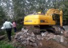 تخریب پل بتنی غیر مجاز در صومعه سرا