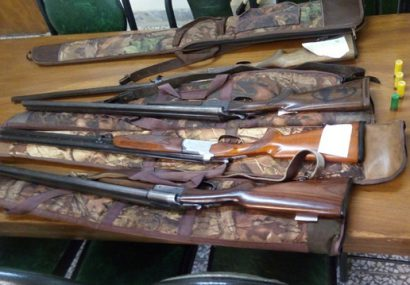 کشف ۵ قبضه تفنگ شکاری در لاهیجان