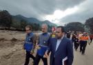 بازدید سرپرست فرمانداری و مدیر کل بحران از مناطق سیل زده ماسال و شاندرمن
