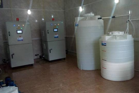 استفاده از دستگاه الکترولیز نمک طعام بکو برای گندزدایی در تصفیه خانه بهارستان آستارا
