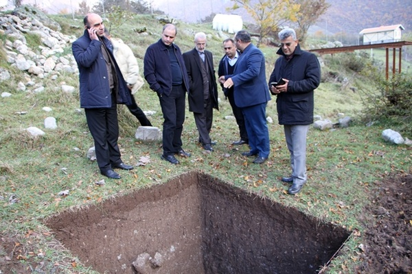 بازدید مدیرکل میراث فرهنگی گیلان از گمانه زنی های مریان تالش