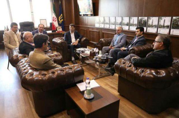 شهردار رشت با مدیر عامل شرکت گاز گیلان دیدار و گفت و گو کرد